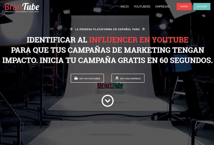 Brandtube, plataforma de marketing con youtubers