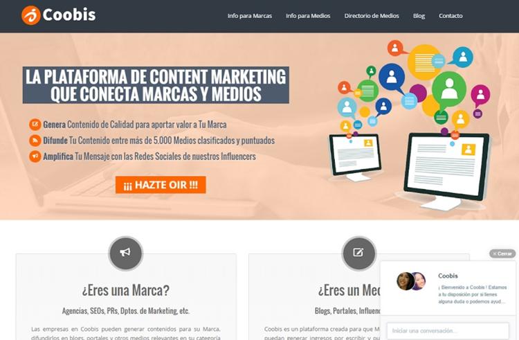 Coobis, plataforma de marketing de contenido con influencers