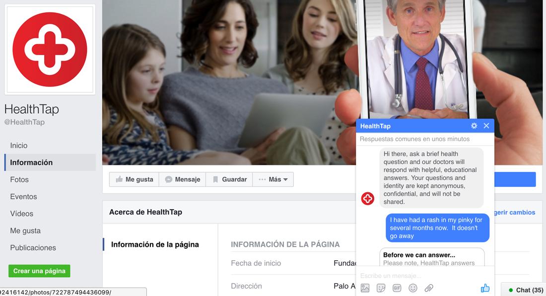 El Chat Bot médico de Health Tap
