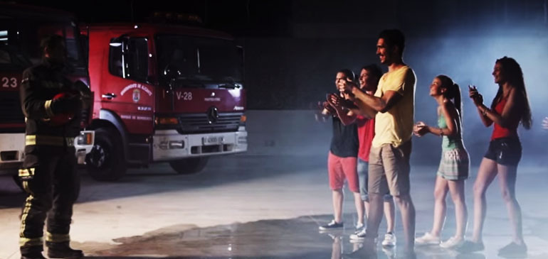 Homenaje a los bomberos de La Banyà