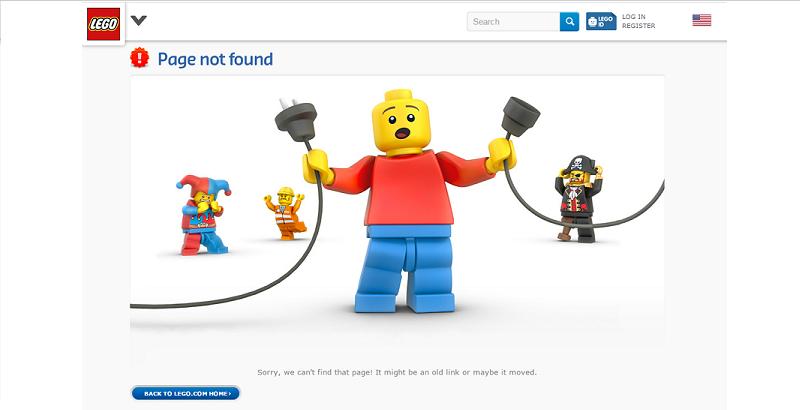 18 diseños de páginas de error 404 que te enamorarán