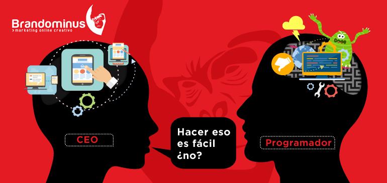 Humor Marketing: CEO vs Programador web